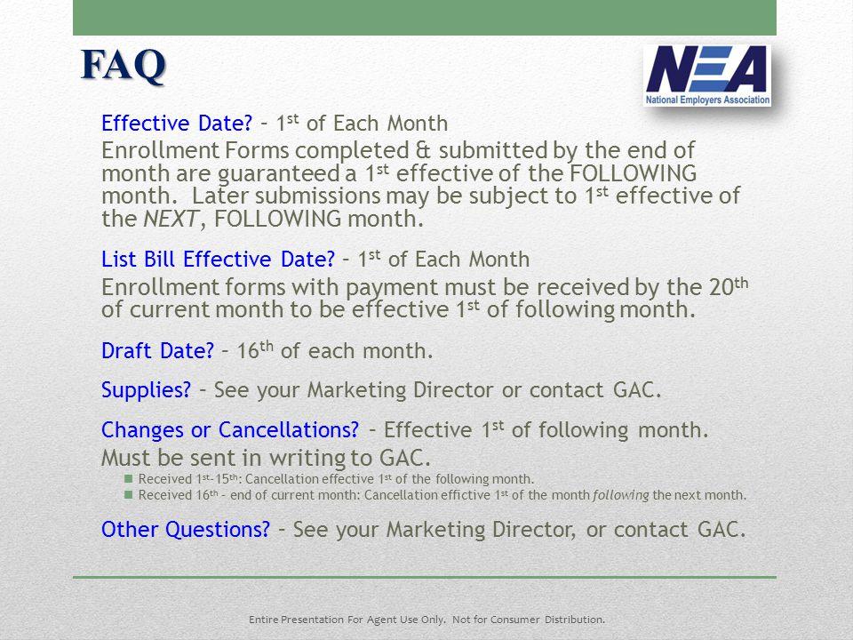 FAQ Effective Date.
