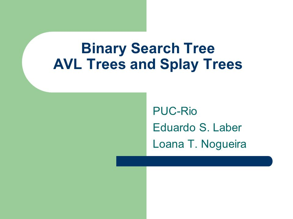 The tree may become unbalanced The binary tree may become degenerate after operations of insertion and remotion: becoming a list, for example.