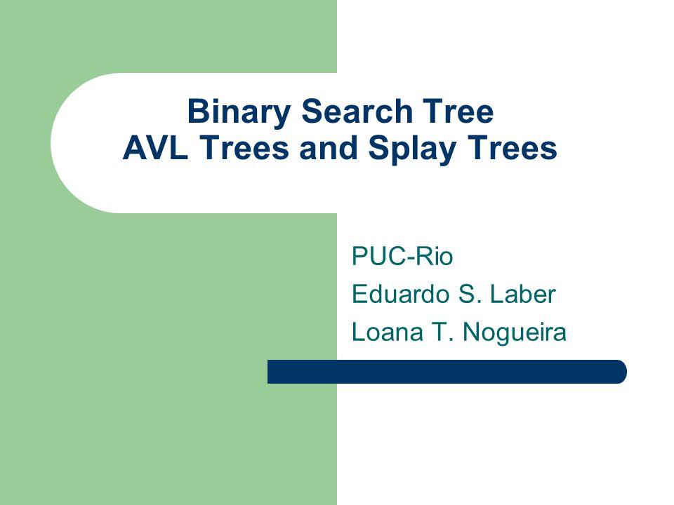 Splay Example Apply Splay(1, S) to tree S: 1 10 8 96 7 2 3 4 5