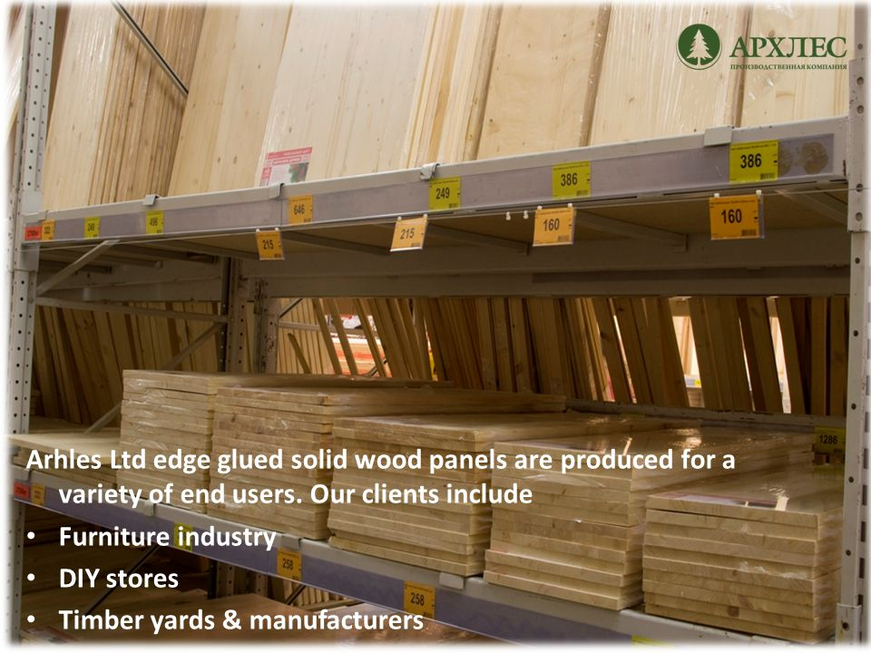 Furniture industry Many items of furniture are made from pine.