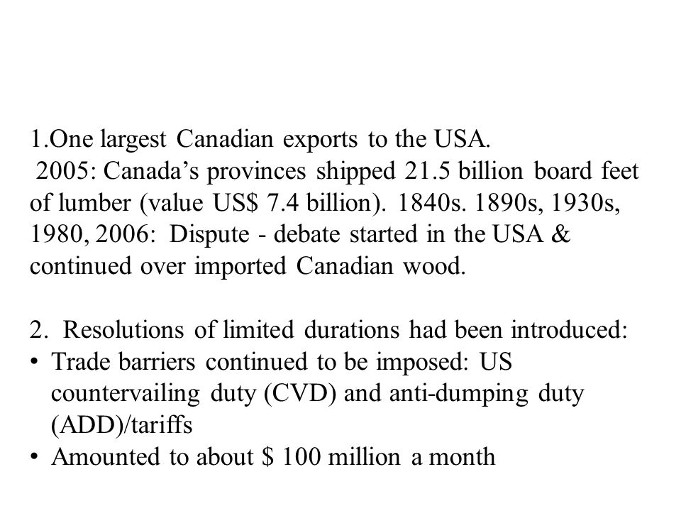 In sum: Canada's public ownership of timberland is not a trade issue.