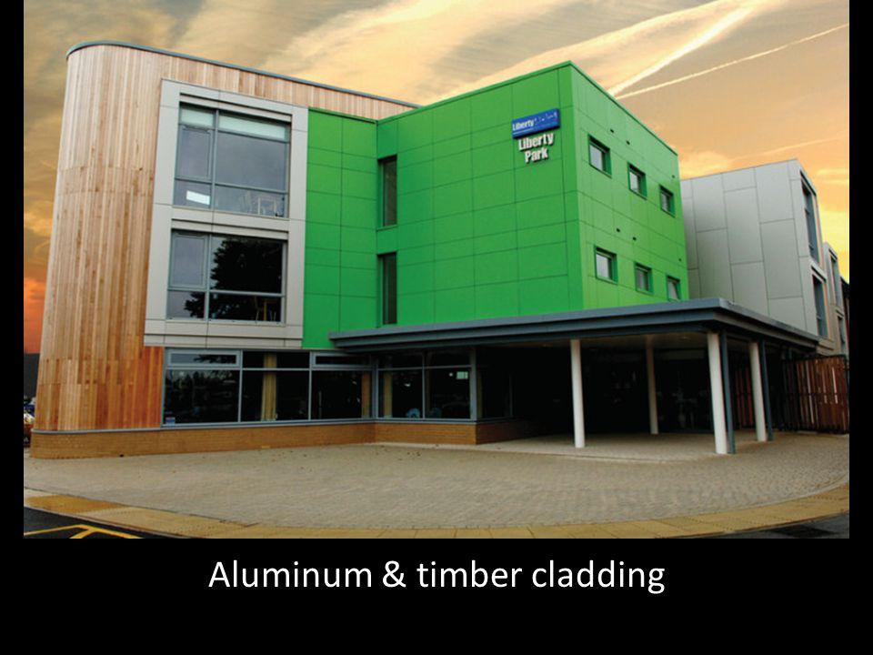 Aluminum & timber cladding
