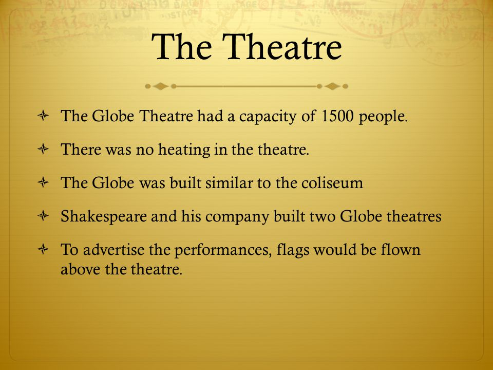 The Theatre  The stage platform was about 43 feet wide, 27-28 feet deep, and 5 feet off the ground.  Underneath the floors of the outer and inner st