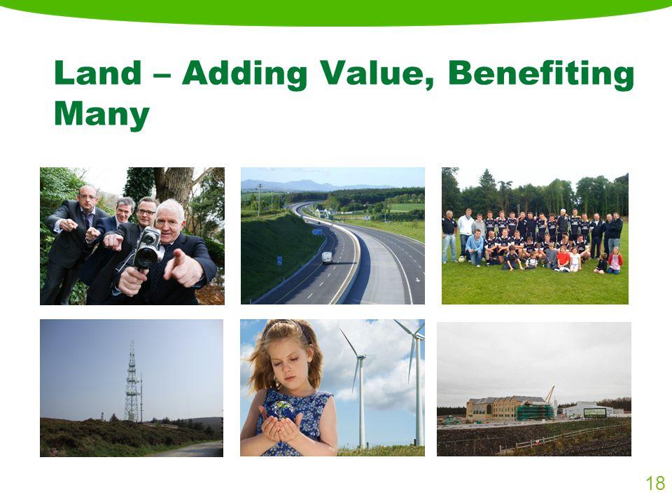 Land – Adding Value, Benefiting Many 18