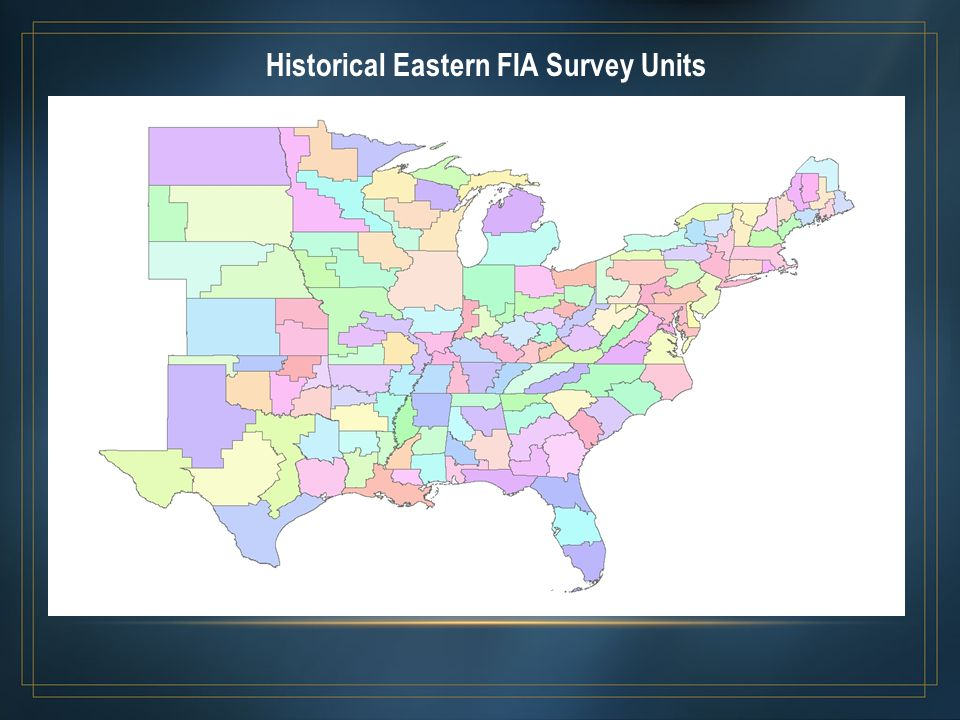 Historical Eastern FIA Survey Units