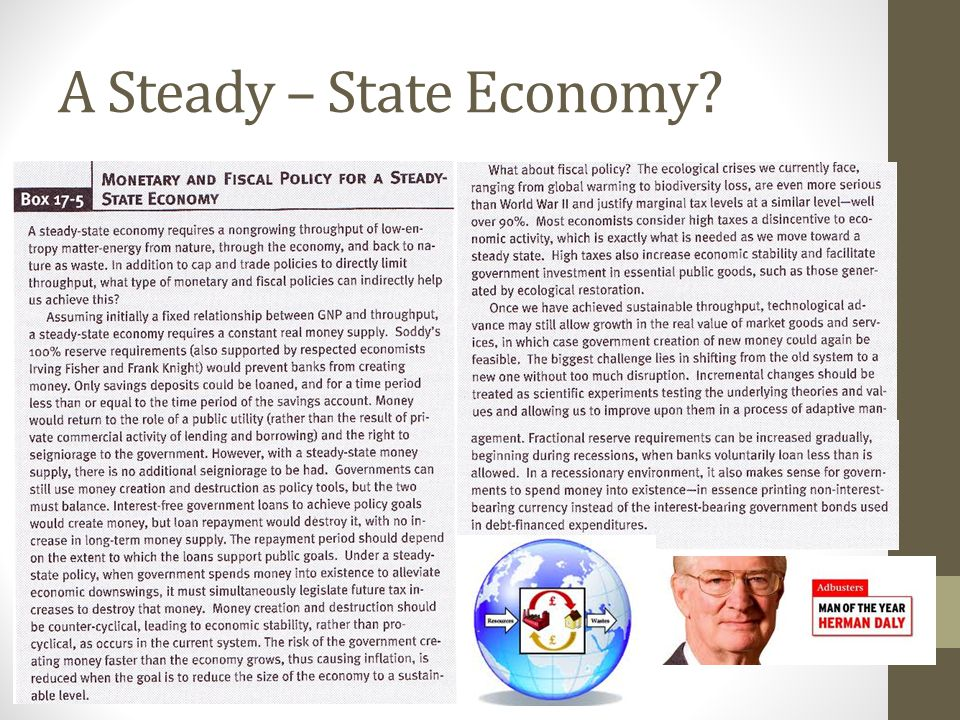 A Steady – State Economy