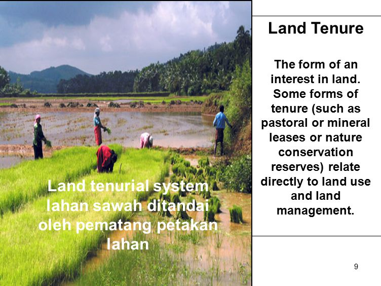 Land capability and suitability Land capability assesses the limitations to land use imposed by land characteristics and specifies management options.