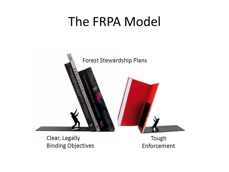 The FRPA Model Clear, Legally Binding Objectives Tough Enforcement Forest Stewardship Plans