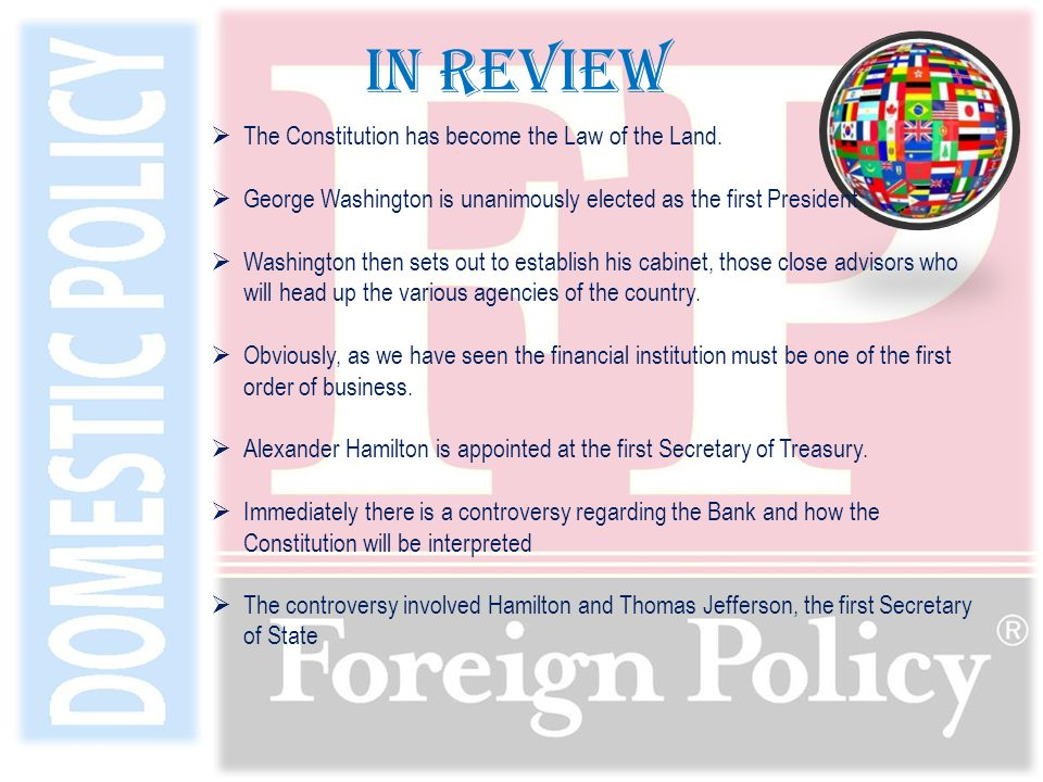  Foreign policy is an umbrella term covering all issues regarding how a government and its agents politically relate to other governments;  A few examples of foreign policy include: trade agreements, embargoes, declarations of war, treaties, humanitarian aid, intelligence gathering and analysis, and strategies employed.