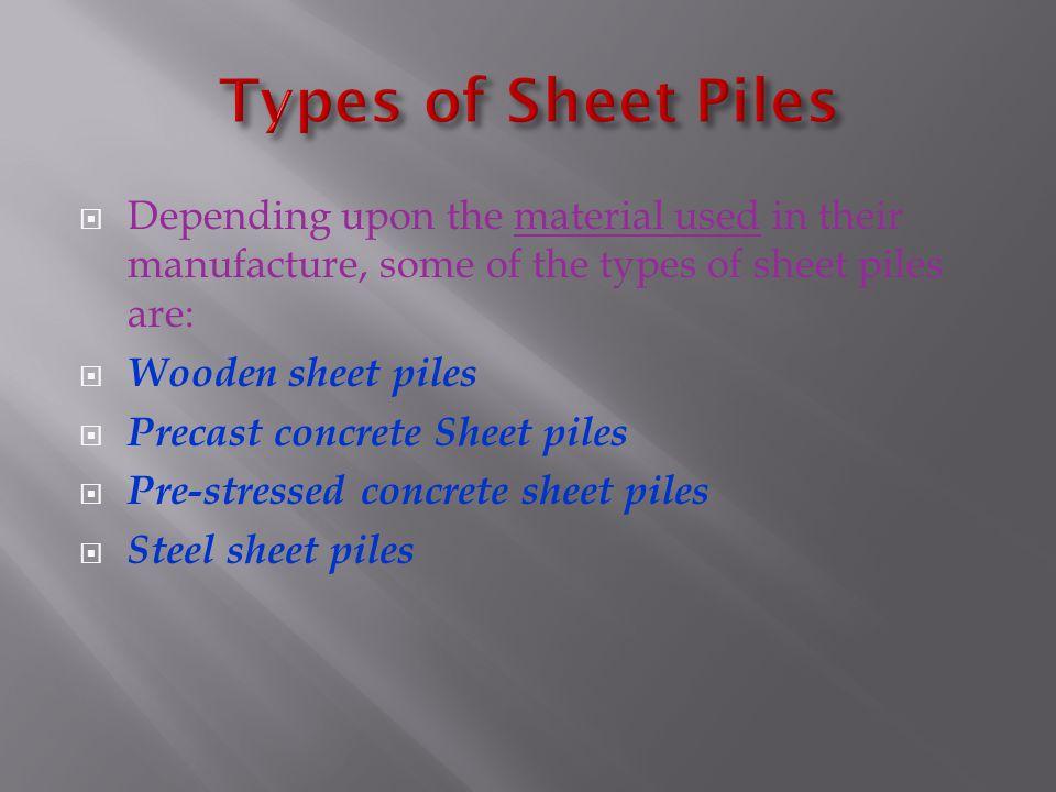 1.Wooden sheet piles: 1.