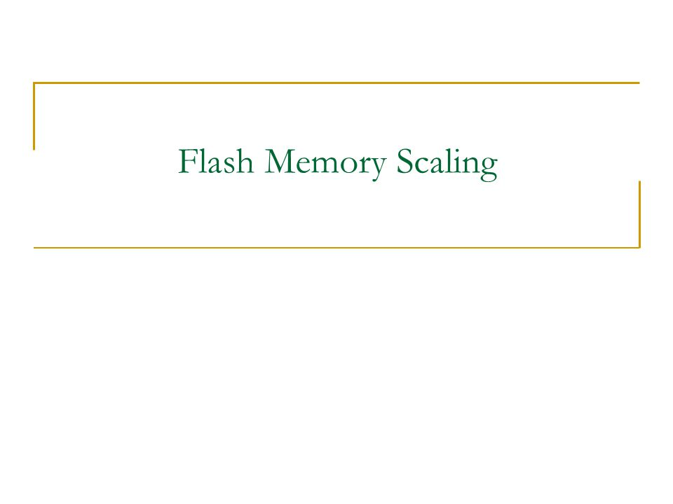 Flash Memory Scaling