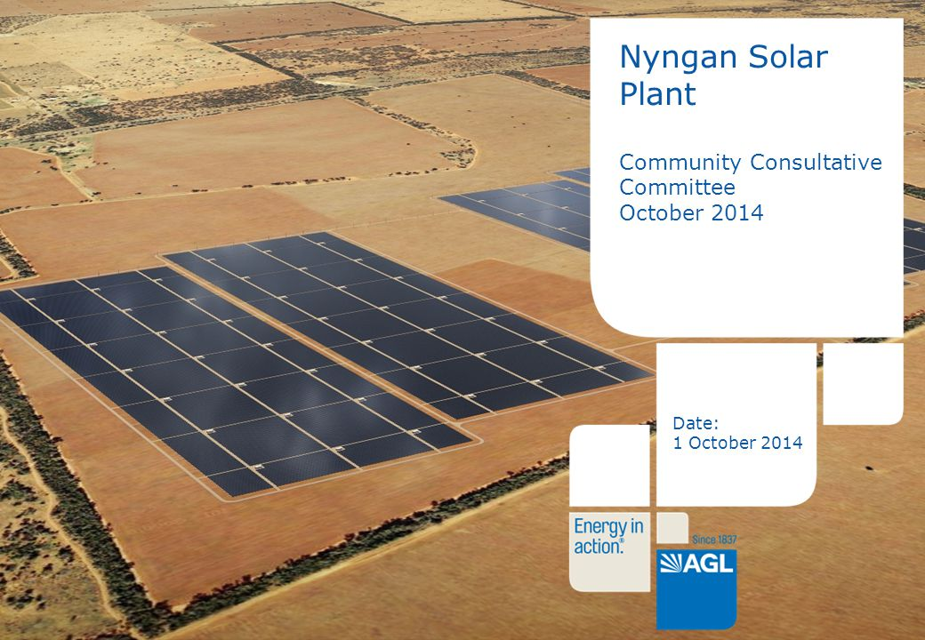 1 Nyngan Solar Plant Community Consultative Committee October 2014 Date: 1 October 2014