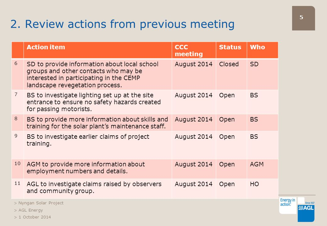 16 2. First Solar overview of project status > Nyngan Solar Project > AGL Energy > 1 October 2014