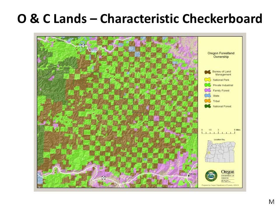 O & C Lands – Characteristic Checkerboard M