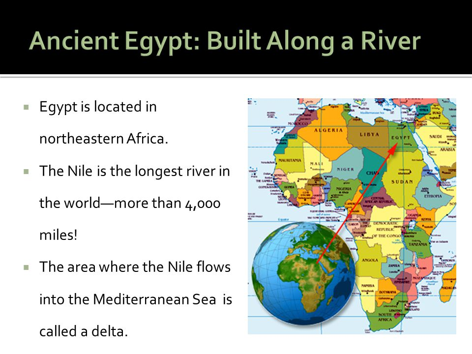 Key Term Nile River- The longest river in the world.