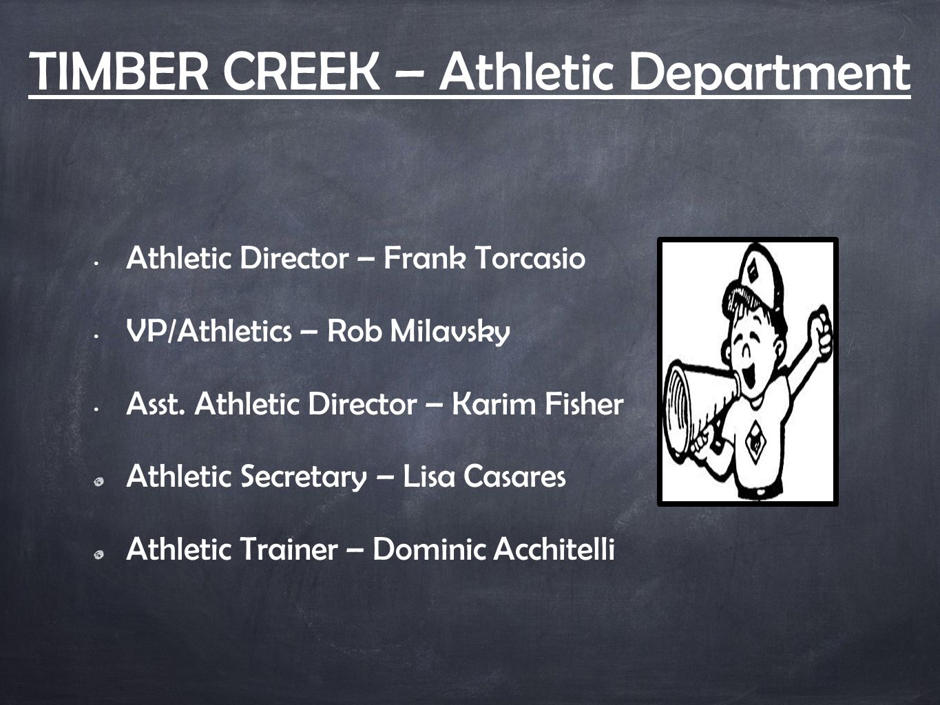 IMPORTANT… No athlete is cleared to participate until our school doctor signs off on the physical.