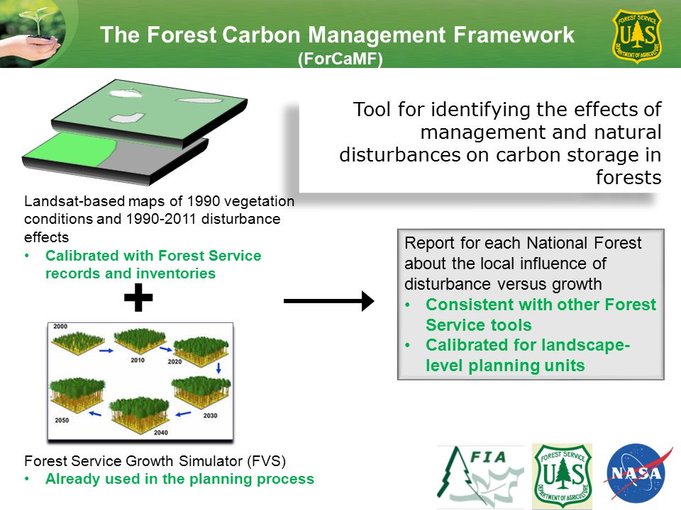 The Forest Carbon Management Framework (ForCaMF) Tool for identifying the effects of management and natural disturbances on carbon storage in forests