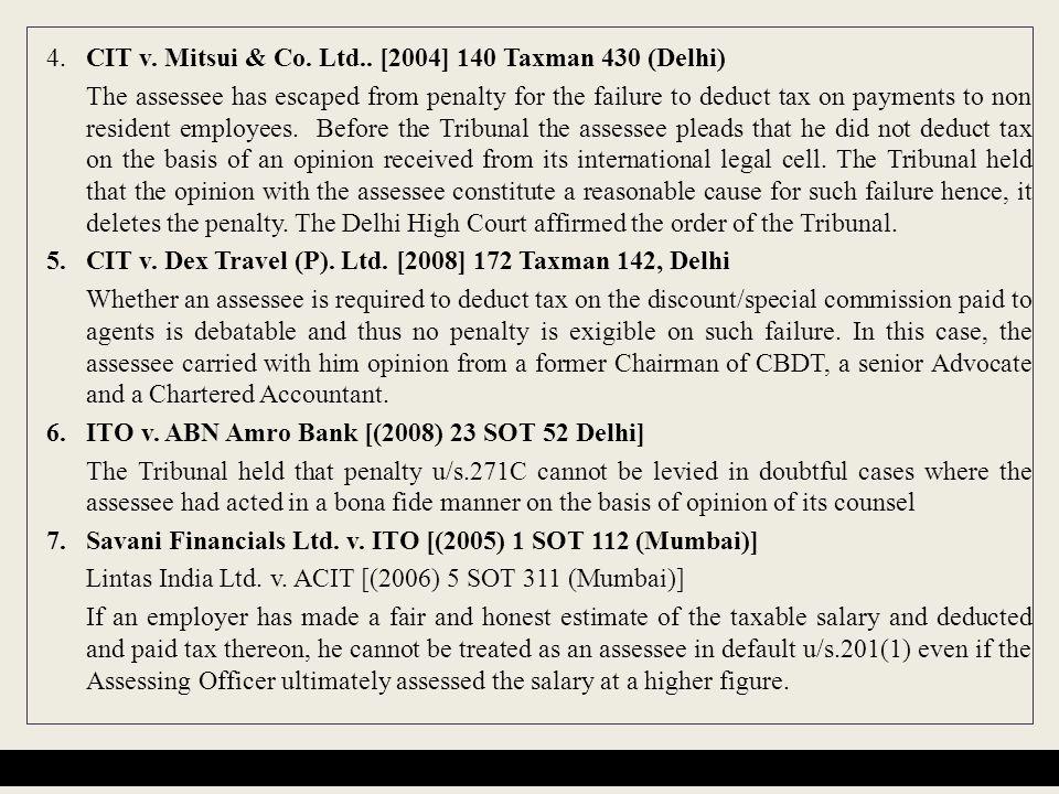 4.CIT v.Mitsui & Co. Ltd..