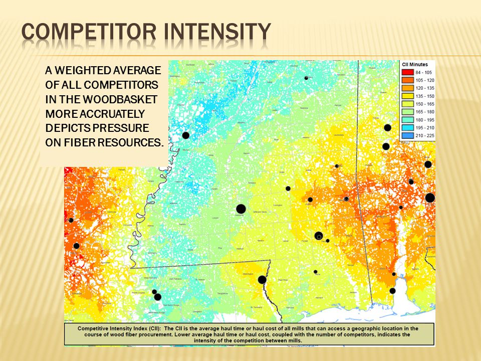 A WEIGHTED AVERAGE OF ALL COMPETITORS IN THE WOODBASKET MORE ACCRUATELY DEPICTS PRESSURE ON FIBER RESOURCES.