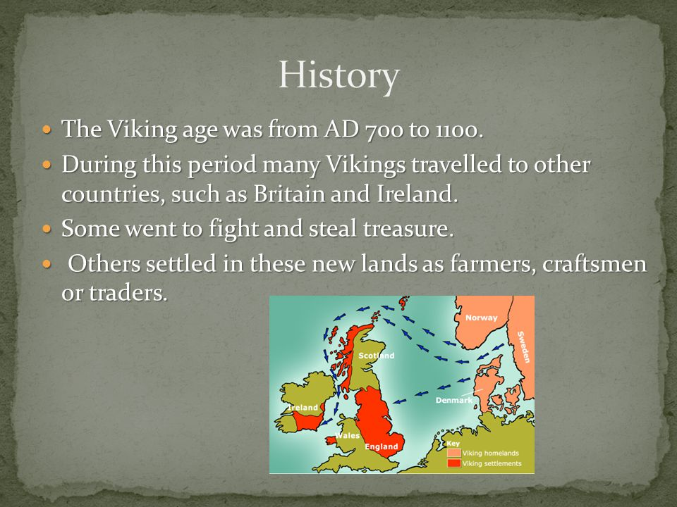 The Vikings came from Norway, Sweden and Denmark, also known as Scandinavia. Their land was not fertile. It was rocky. They found it hard to grow crop