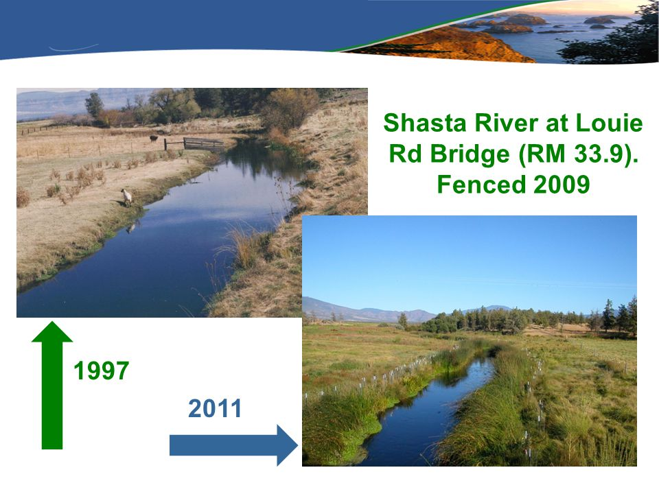 Shasta River at Louie Rd Bridge (RM 33.9). Fenced 2009 1997 2011