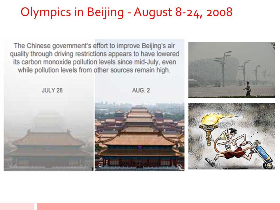 Olympics in Beijing - August 8-24, 2008