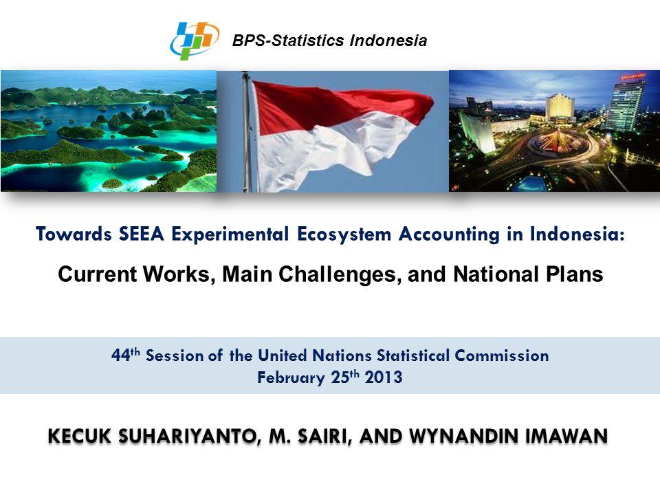 KECUK SUHARIYANTO, M. SAIRI, AND WYNANDIN IMAWAN BPS-Statistics Indonesia