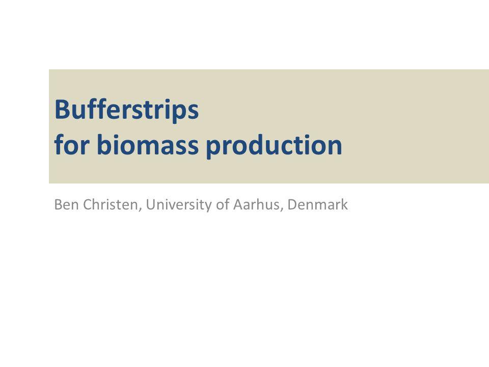 Bufferstrips for biomass production Ben Christen, University of Aarhus, Denmark