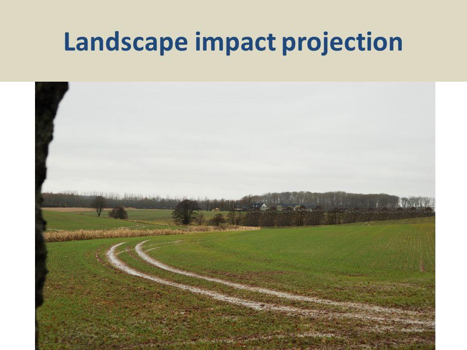 Landscape impact projection