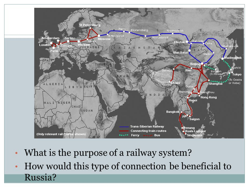 Map Monday What is the purpose of a railway system.