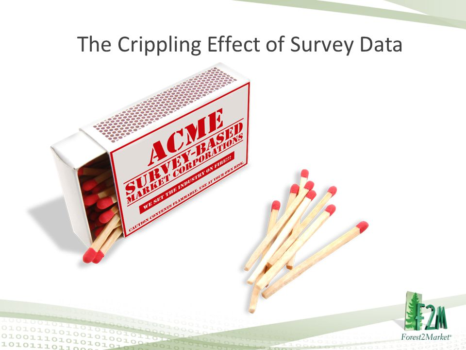 The Crippling Effect of Survey Data