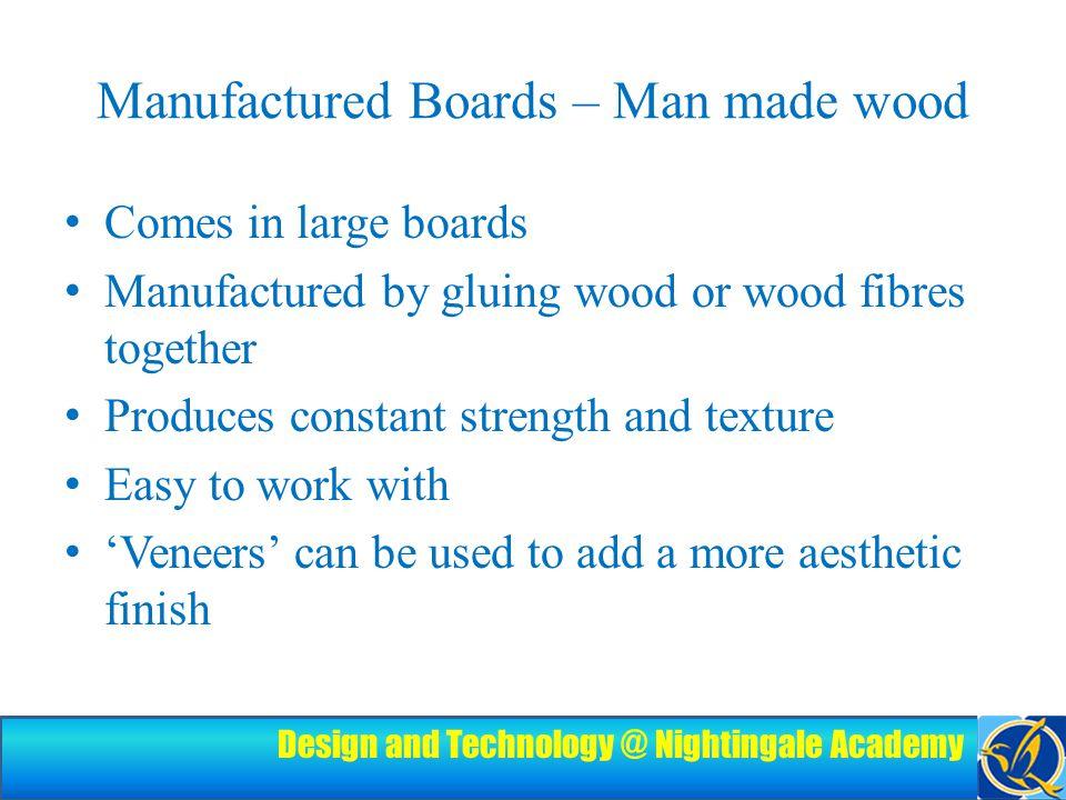 Design and Technology @ Nightingale Academy Example Blockboard Hardboard MDF Plywood