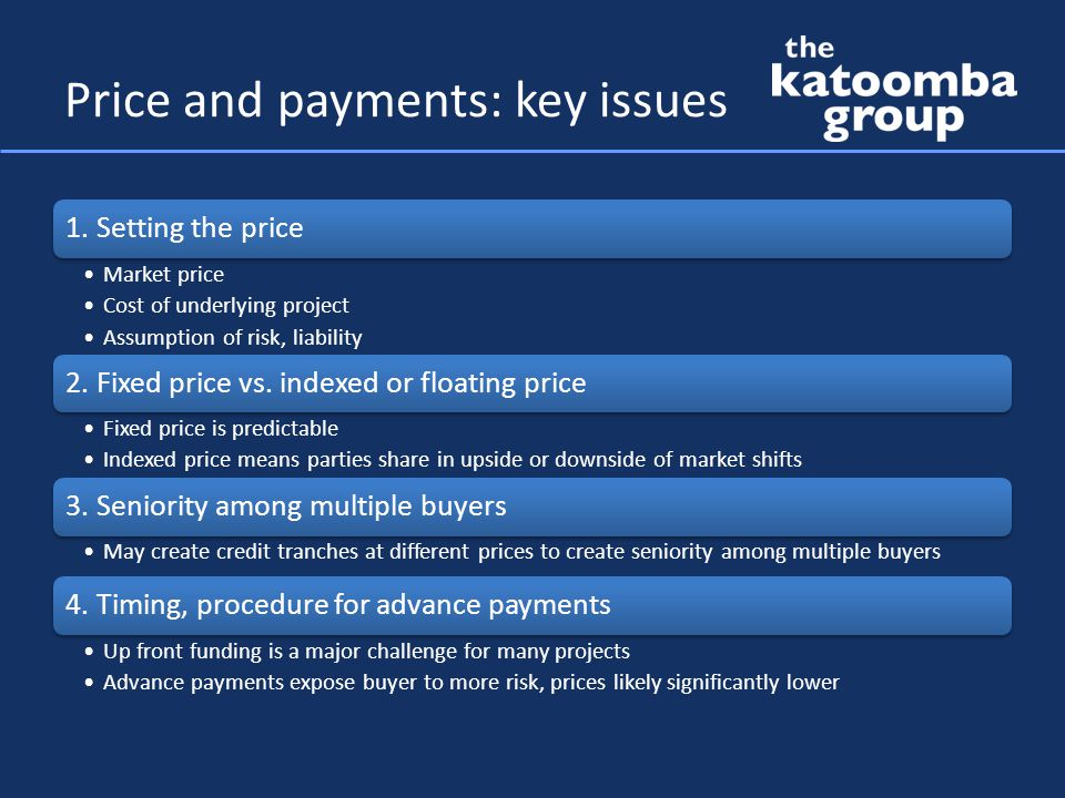 Price and payments: key issues 1.