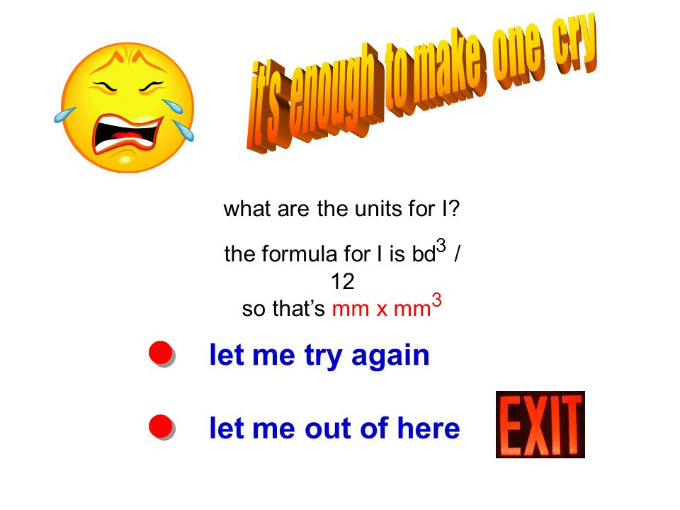 let me try again let me out of here what are the units for I.