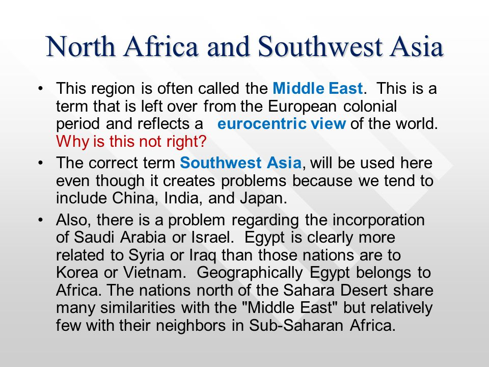 2 Southwest Asia & North Africa