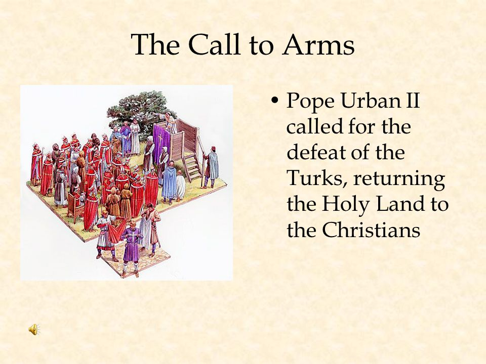 Causes of the Crusades Muslim Turks captured Jerusalem from the Byzantine Empire Muslims stopped Christians from Visiting Holy Land Christian pilgrims