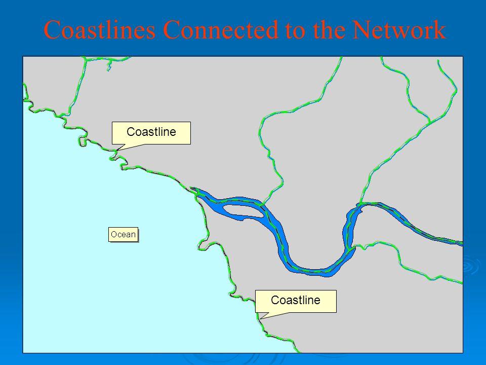 Coastlines Connected to the Network Coastline