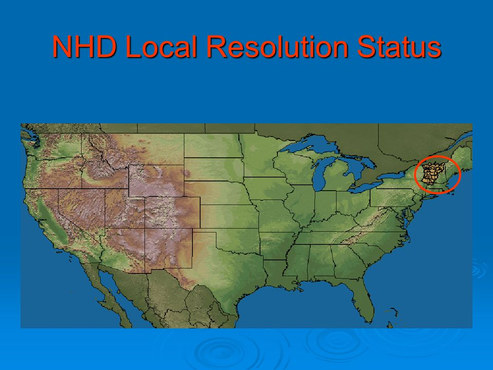 NHD Local Resolution Status