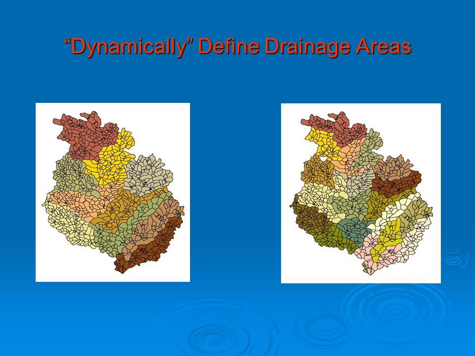 Dynamically Define Drainage Areas