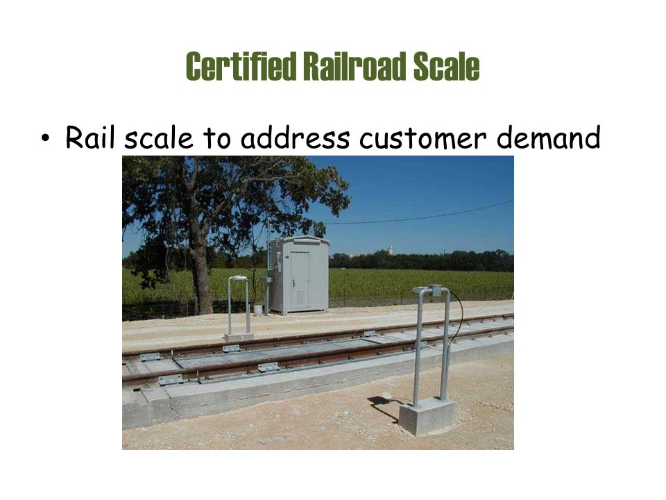 Certified Railroad Scale Rail scale to address customer demand