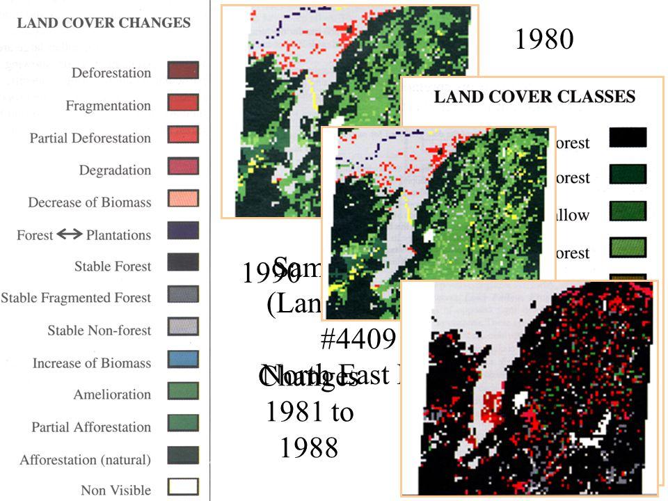 49 1980 Sampling Unit (Landsat scene) #4409 North East India 1990 Changes 1981 to 1988