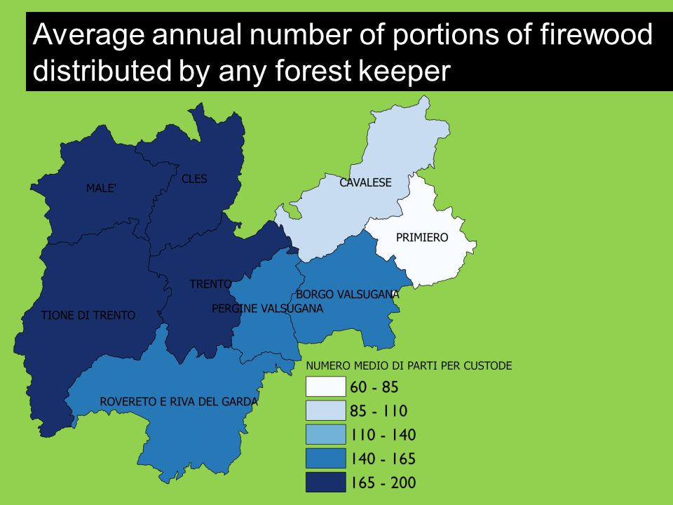 Average annual number of portions of firewood distributed by any forest keeper