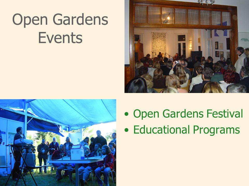 Open Gardens Events Open Gardens Festival Educational Programs