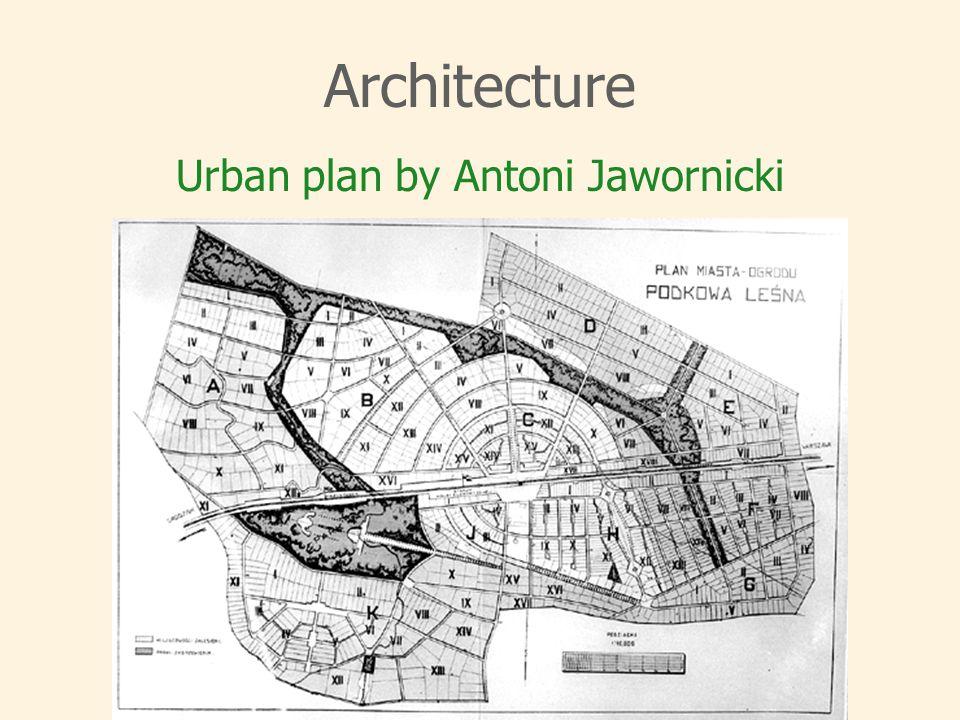 Architecture Urban plan by Antoni Jawornicki