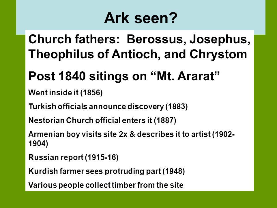 Ark seen.