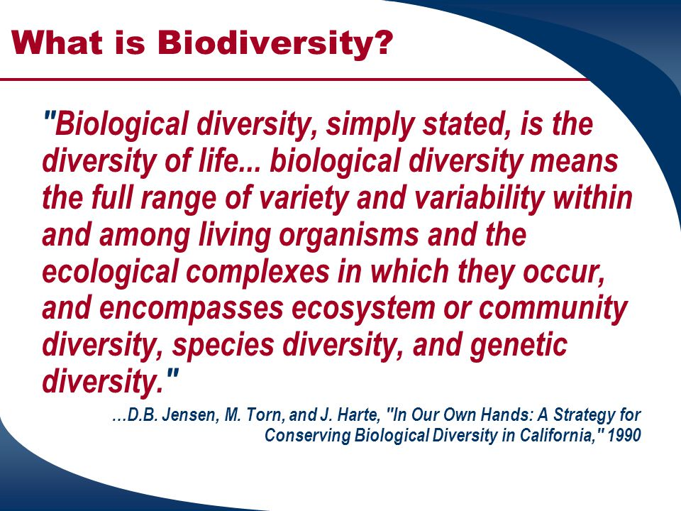 Levels of Biodiversity  Genetic  Species  Communities and Ecosystem Source: PUAF 741