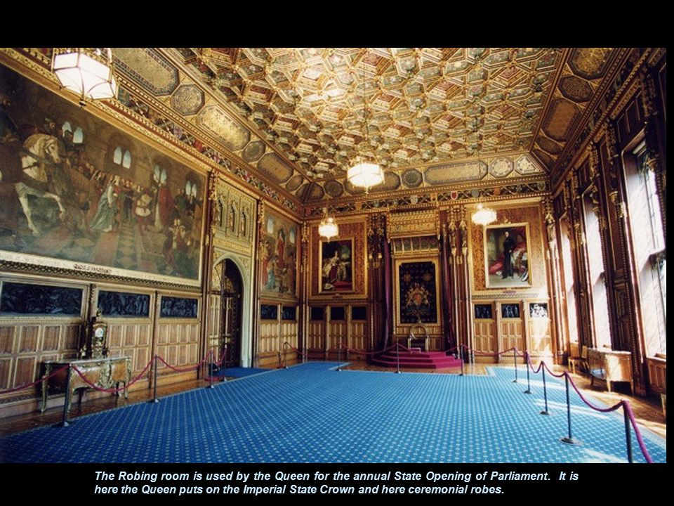 The Royal Gallery is often used when members of the two Houses meet together to hear addresses by visiting heads of State.