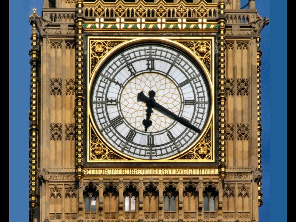 Big Ben installed in 1858.