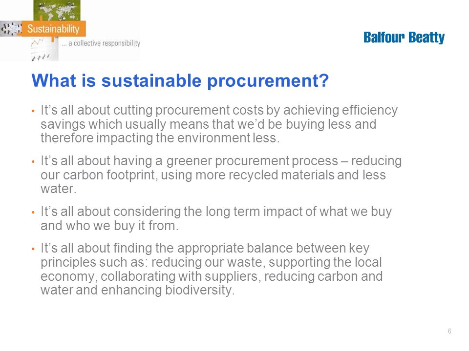 6 What is sustainable procurement.