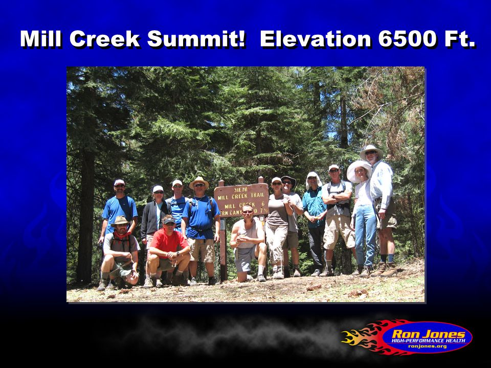 Mill Creek Summit! Elevation 6500 Ft.